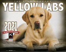 2021 Yellow Lab Dogs Wall Calendar by The King Company (free shipping)