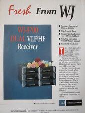 10/1992 PUB WATKINS JOHNSON ELECTRONICS WJ-8700 DUAL VLF/HF RECEIVER ORIGINAL AD