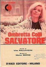 OMBRETTA COLLI SALVATORE D'ANZI EDITORE (SPARTITO MUSICA)(M164)