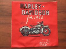 Harley Davidson Motorcycle Linen Square Pillow Cushion Cover.