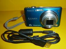 Panasonic Lumix DMC-FH20 14 MP Blue Digital Camera WORKS GREAT NO BATTRY COVER