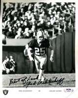 Fred Biletnikoff PSA DNA Coa Hand Signed 8x10 Photo Autograph