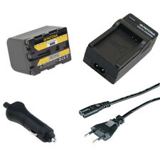 Batteria Patona 2600mAh + Caricabatteria casa/auto per Sony HDR-HC1,HDR-HC1E