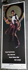 EVERY WHICH WAY BUT LOOSE original rolled 14x36 RARE movie poster CLINT EASTWOOD