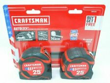 """(2-Pack) Craftsman Pro 11 25 ft Auto Lock Tape Measures (Made in Usa) 25'x1.25"""""""