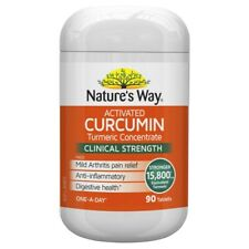 Nature's Way Activated Curcumin Clinical Strength 90 Tablets Turmeric Natures