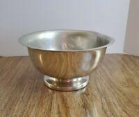 "Stieff polished Pewter Footed Pedestal Fruit Bowl 9"" P42"
