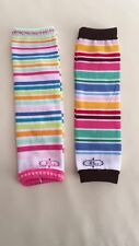 Set of 2, Baby Infant Toddler Girl Boy Rainbow Leg Warmers, brand new VERY soft