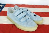 Vans Off The Wall Strap Terry Cloth Prison Sneakers Shoes Skate Light Baby Blue
