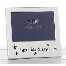 Special Sister Satin Silver Photo Frame Gift by Shudehill 73477