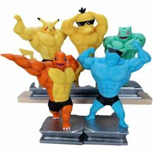 Bodybuilders Pokemon Muscle Action Figure Toy Models Beach Body Figurines PVC