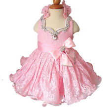 15color Infant/toddler/kids/baby/Girl's Pageant/prom/formal Dress size1-7  G1211