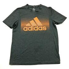 Adidas Climalite Dry Fit Shirt Youth Size Large 14 / 16 Boys Gray Short Sleeve T