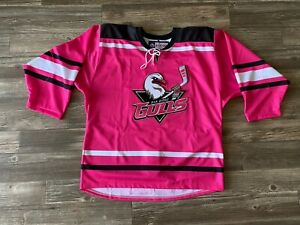 NEW San Diego Gulls Authentic Pro Stock Pink in the Rink CCM Jersey 50