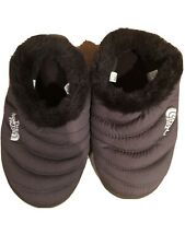 The North Face Womens XSmall Goose Down Brown Slippers Faux Fur Lined