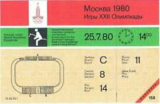 Rare Unused 1980 Moscow Olympic Equestrian Ticket