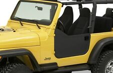 Bestop Soft Half Doors 97-06 Jeep Wrangler TJ & Unlimited Black Diamond 53039-35