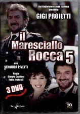 IL MARESCIALLO ROCCA 5 - BOX 3 DVD, NUOVO E SIGILLATO, PRIMA STAMPA, NO EDICOLA