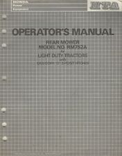 1989 Honda Rear Mower Rm752A for Light Duty Tractors Operator'S Manual (141)