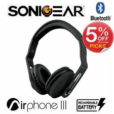 Wireless Headphones SonicGear Airphone III Bluetooth Stereo Headset Black