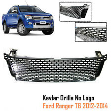KEVLAR CARBON FRONT GRILL GRILLE FIT RANGER T6 PX XLT LX 2012-2014 NO FORD LOGO