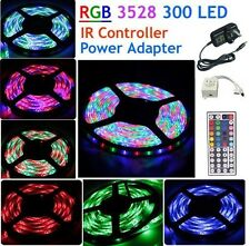 Waterproof 5M 300 LED 3528 RGB SMD Strip Light 12V + Adapter + Remote Controller
