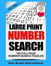 Large Print Number Search by Edwards, Mike