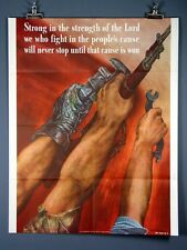 "Vintage WWII Poster ""Strong in the Strength of the Lord""1942, David Stone Martin"