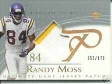 2003 RANDY MOSS ULTIMATE COLLECTION 2 CLR  PATCH  /175