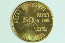 Mississippi Valley Fair 50th Anniversary Commemorative Medal Davenport Iowa