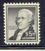 UNITED STATES $5 HAMILTON SCOTT#1053  XF MINT NH