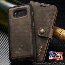 For Galaxy S10/S9+ Note 9/10 Plus Leather Removable Wallet Magnetic Case Cover