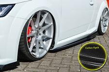Seitenschweller Schweller mit Wing  ABS für Audi TT TTS 8S S-Line Carbon Optik