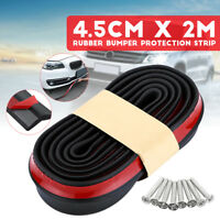 Parachoques Delantero Protector Lip Splitter Body Spoiler Goma 2,5Mx4,5CM