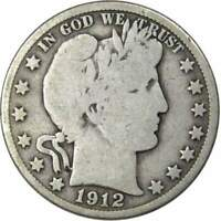 1912 D Barber Half Dollar VG Very Good 90% Silver 50c US Type Coin Collectible