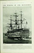 1902 PRINT RUDIMENTS OF SAILORMANSHIP TRAINING-SHIP IMPREGNABLE
