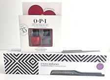 ENZO Milano SX Professional Hot Comb Flat Iron Brush With Free Gift Set OPI