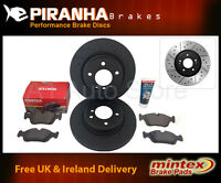 Peugeot 407 2.0 Hdi 05/04- Front Brake Discs Black Mintex Pads and Copper Grease