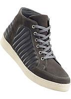 Damen Stiefel Leder Freizeit Schuhe Boots Frauen dunkel grau Größe 40 NEU