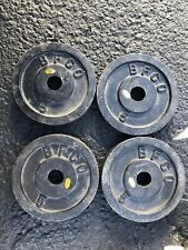 """4-Vintage BFCO 5lb Olympic Weight Plates 1""""hole"""