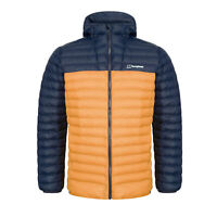Berghaus Vaskye Insulated Mens Padded Outdoor Jacket Blue/Orange