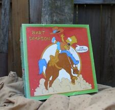 Vintage Simpsons Bart Simpson Puzzle Collectible Aye Carumba Bucking Bronco