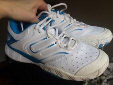 Women's Wilson Rg White/ Light Blue Tennis Shoes Size 6.5 Medium Good Condition