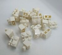 22x Genuine LEGO Part 30236 WHITE 1x2 Handle Brick Spares NEW & Authentic