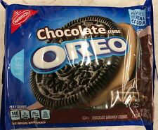 NEW NABISCO OREO CHOCOLATE FLAVOR CREME SANDWICH COOKIES 15.25 OZ FREE SHIPPING