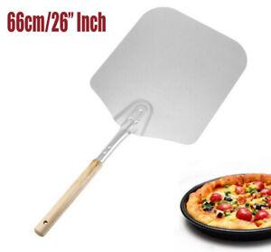 66cm Pelle à Pizza Pâtisseries aluminium avec Poignée en Bois Antidérapant