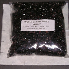GARNET Wine Red, 3-7mm tumbled 2 lb bulk stones xmini India SAVE 20%