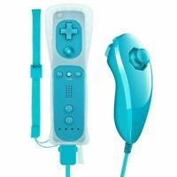 Remote Controller + Nunchuck GamePad Built in MOTION PLUS For Nintendo Wii/Wii U
