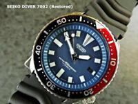 SEIKO SUBMARINER. Blue Dial. Date, Automatic Scuba Diver's Model 7002