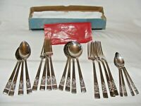 ANTIQUE SILVER PLATE MAYFAIR CUTLERY SET 20 PIECES SPOONS FORKS RD880417